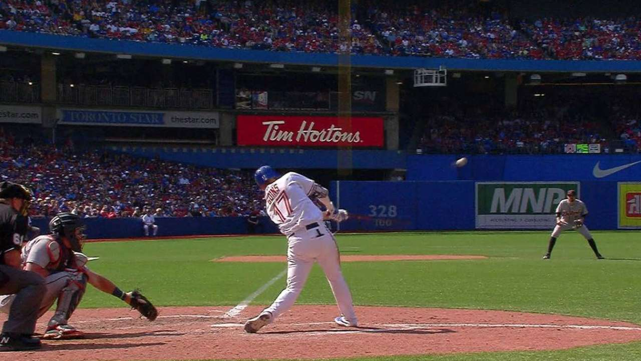 Goins' two-run double
