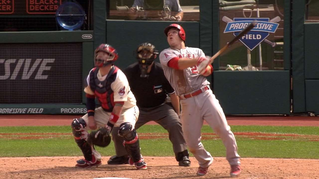 Trout's four-hit day