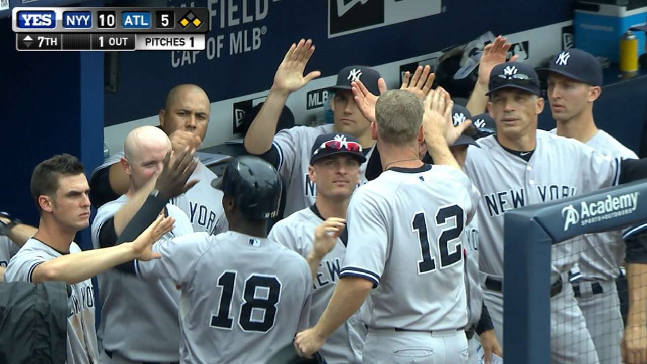Yankees' quench offensive thirst in Atlanta