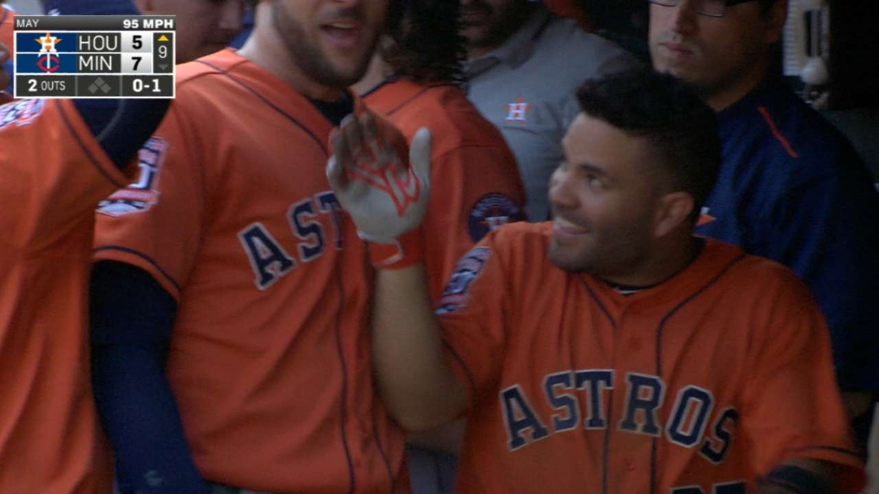 Altuve's four-hit day