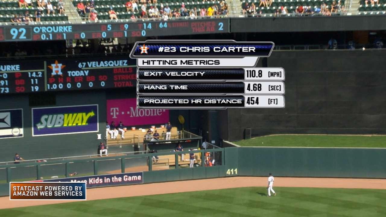 Statcast: Carter's monster shot