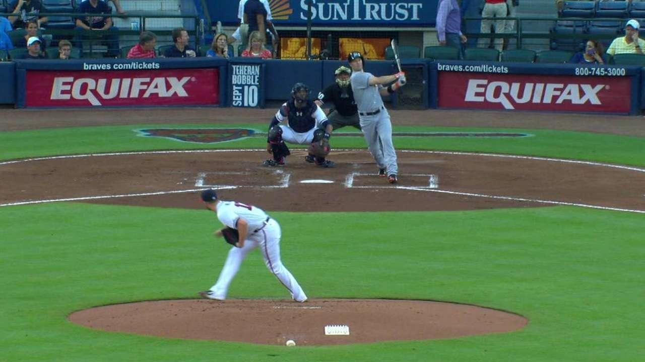 Gillespie's homer helps Marlins defeat Braves