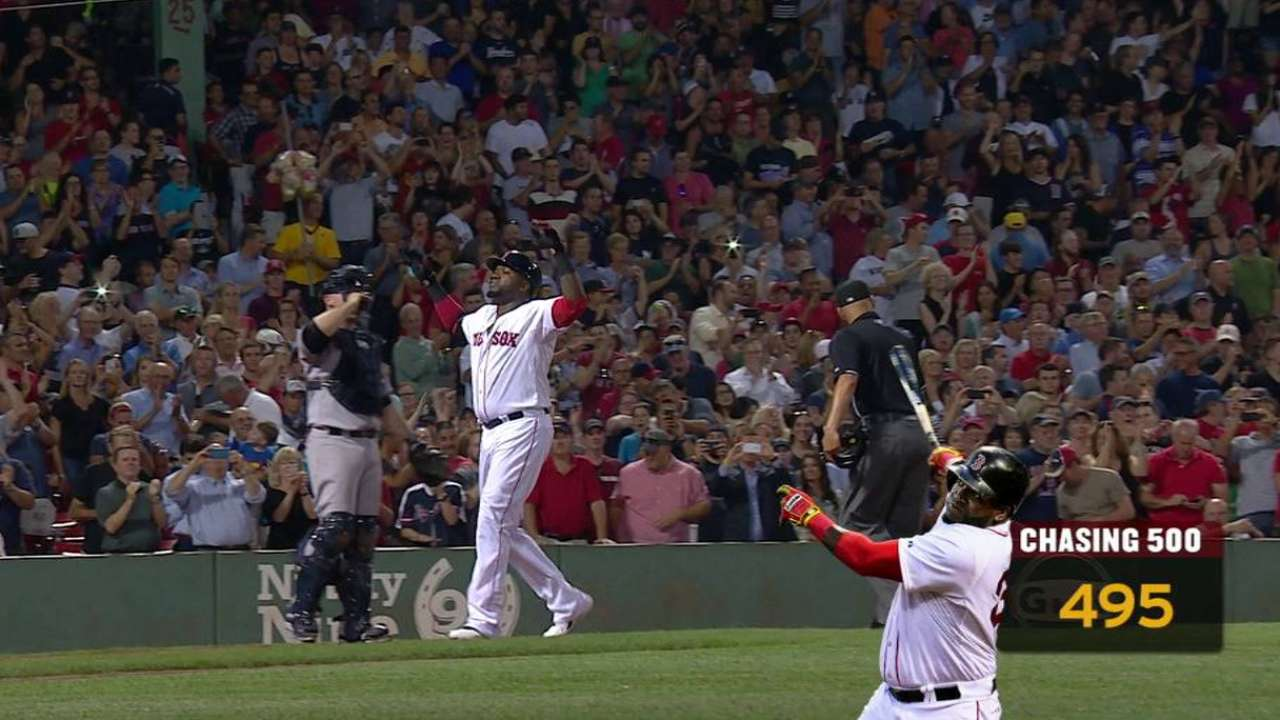 Papi goes deep, five homers from 500