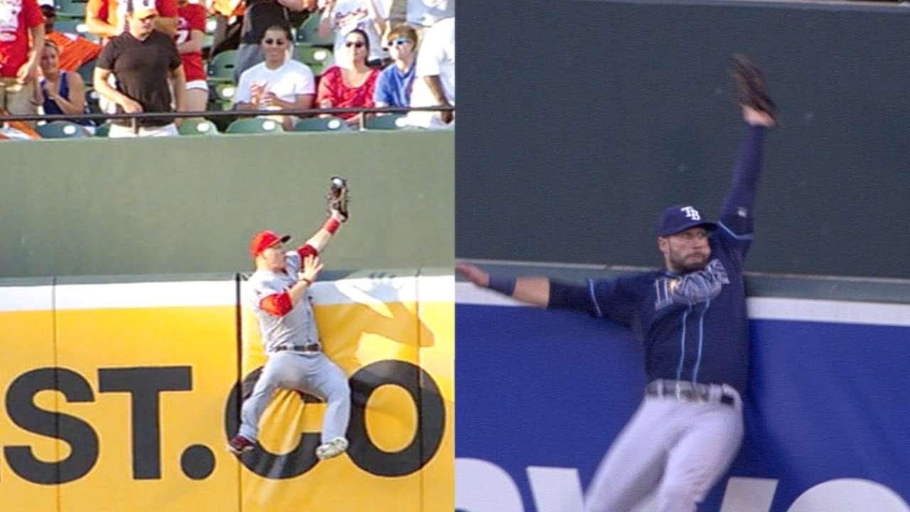 D like Mike: Kiermaier's catch tops Trout's?