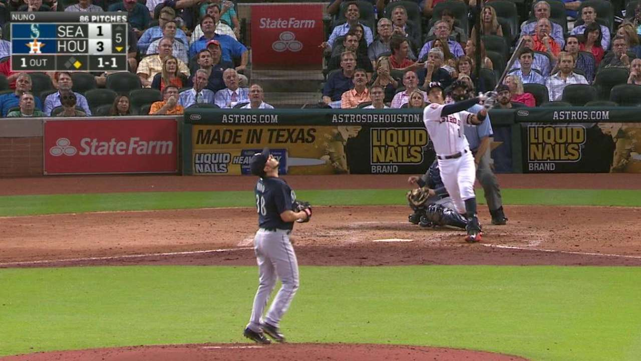 Keuchel rides Astros' homers to 16th win