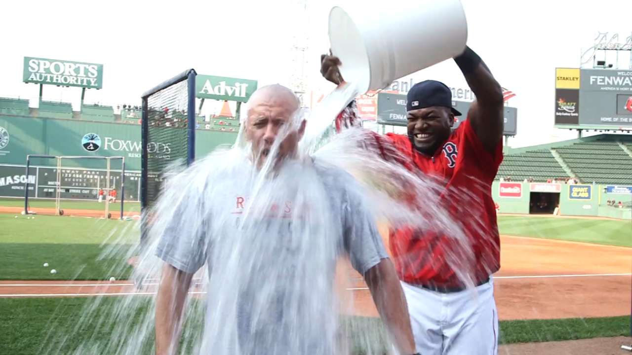 Fans take part in Ice Bucket Challenge