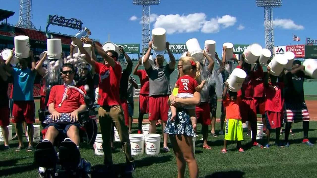 Ice Bucket Challenge wraps at Fenway Park