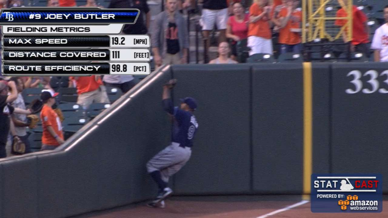 Statcast: Butler tracks it down