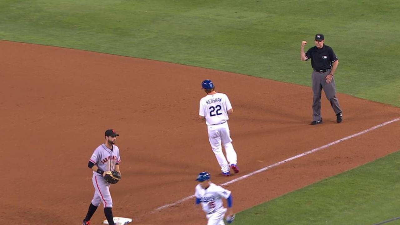 Dodgers use Kershaw, Hatcher as hitters