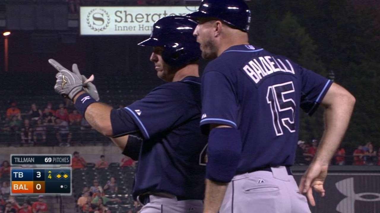 Arencibia remolca seis y los Rays hunden más a Orioles