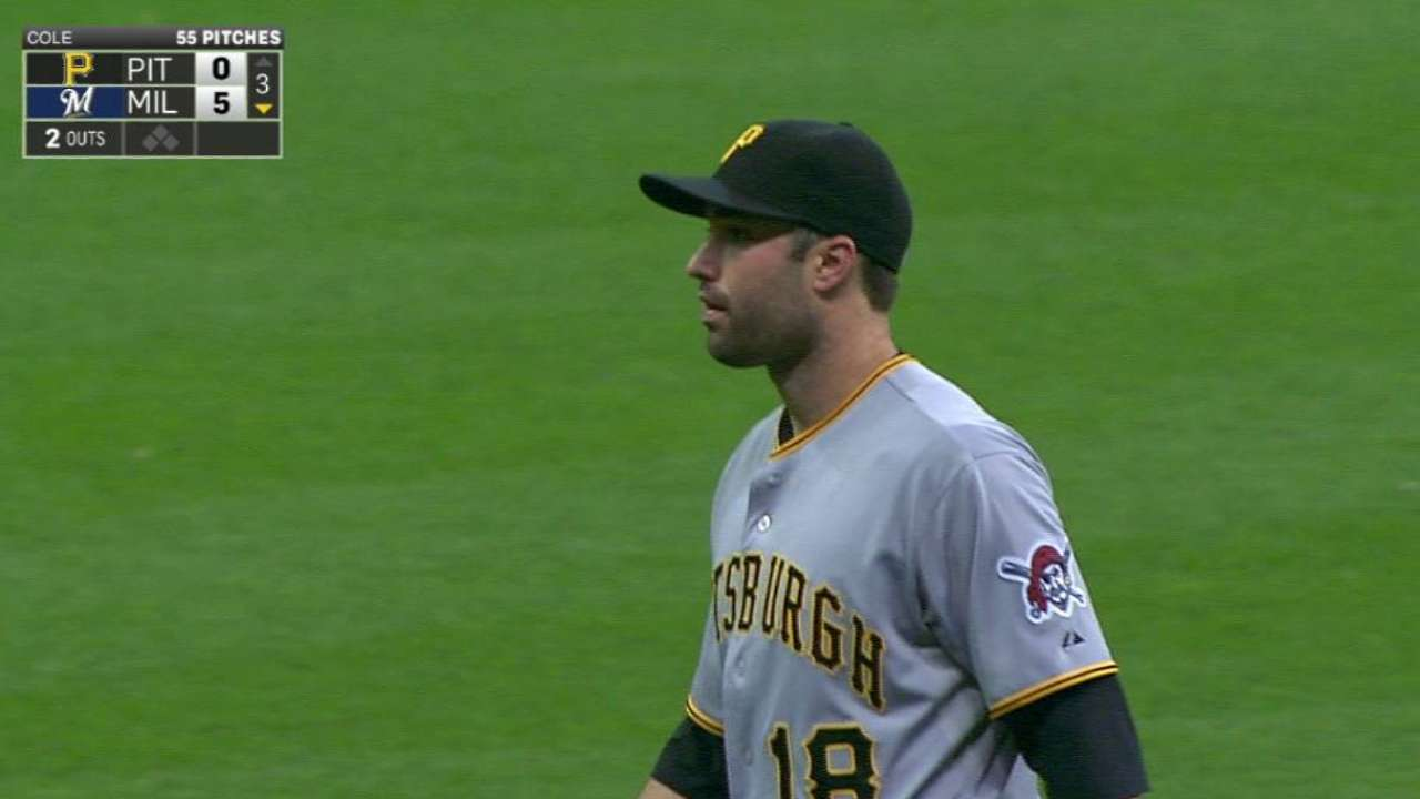 Cole has rare off start in loss to Brewers