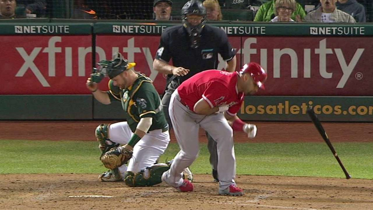 Pujols' RBI hit-by-pitch