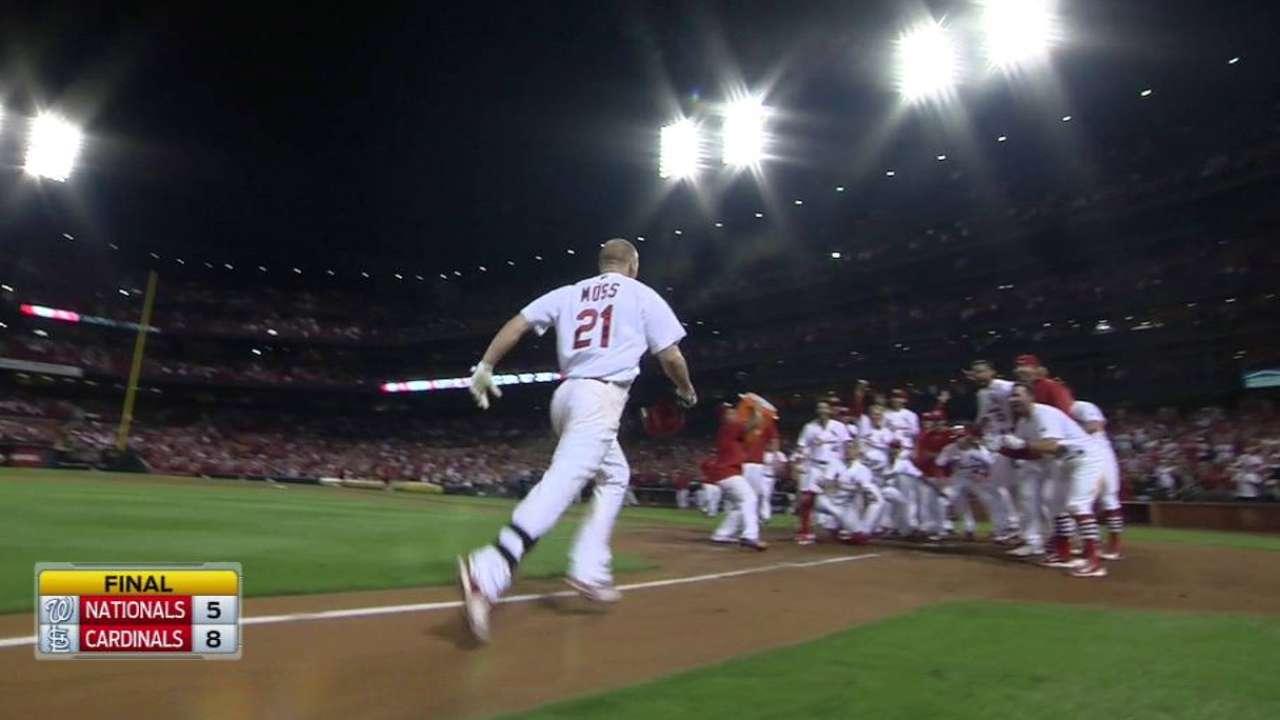 Moss' walk-off home run