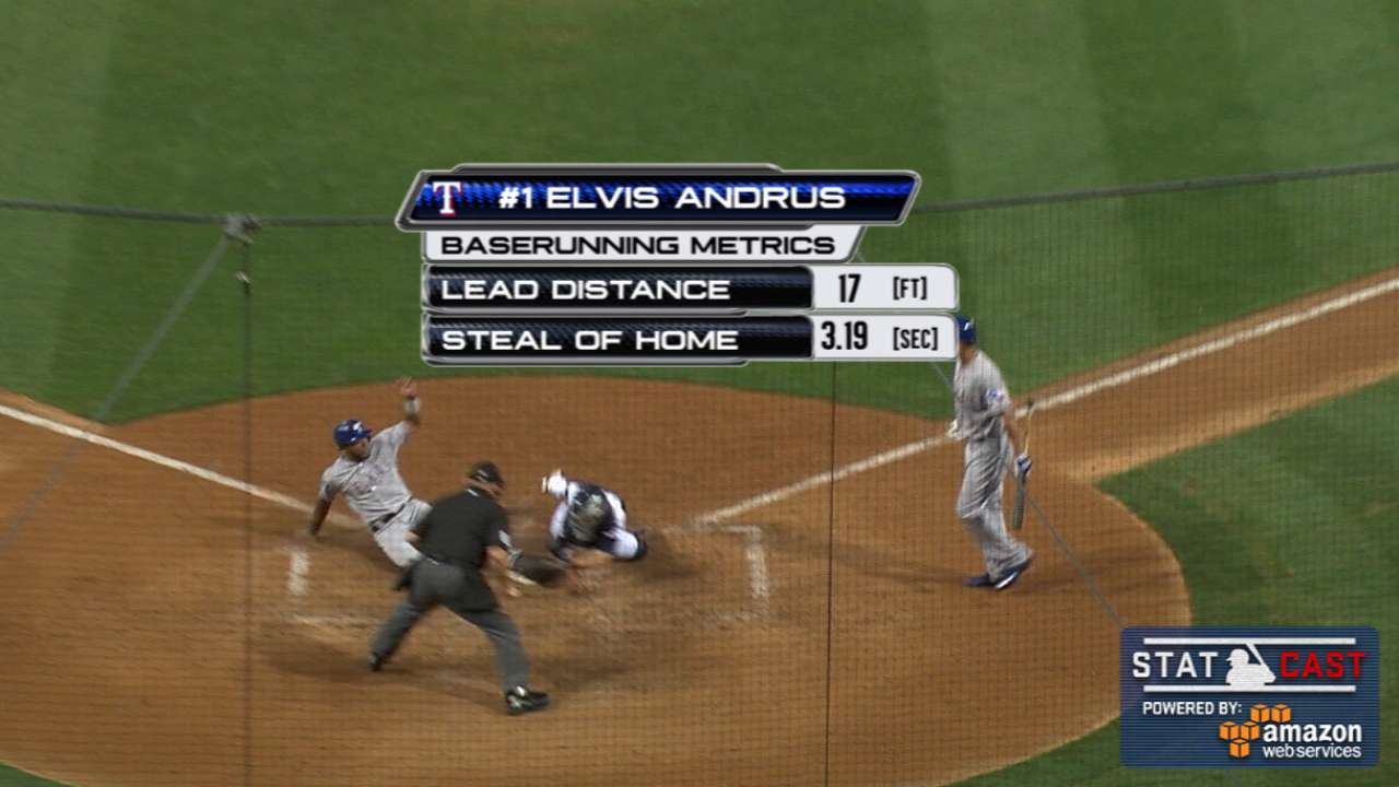 Statcast: Andrus steals home