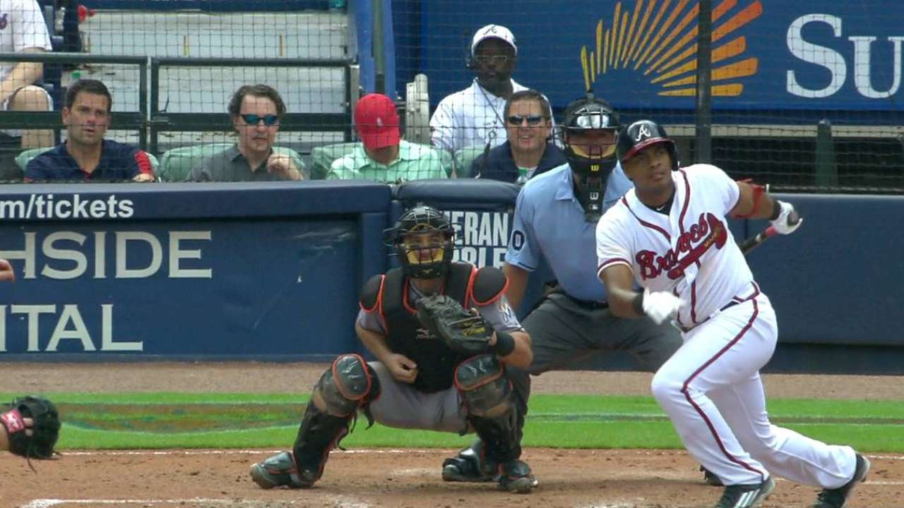 Olivera's first career hit