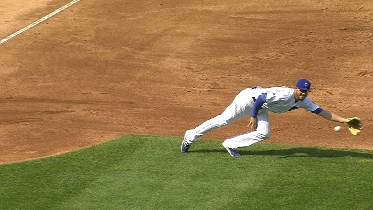 Bryant's great diving stop