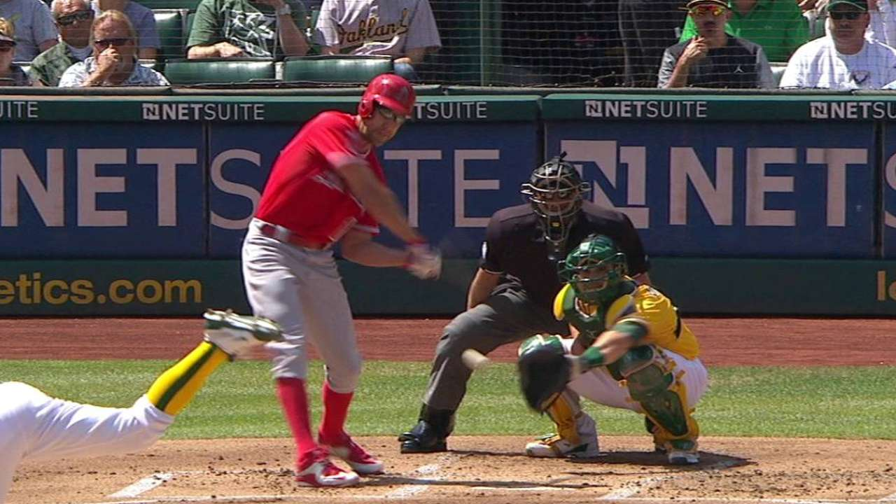Angels jump on A's early for series win