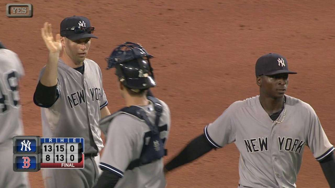 Betances, Miller bail out 'pen mates