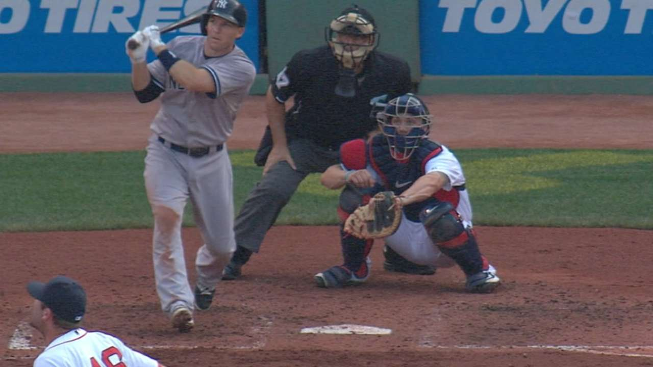 Yankees outslug Red Sox with five HRs
