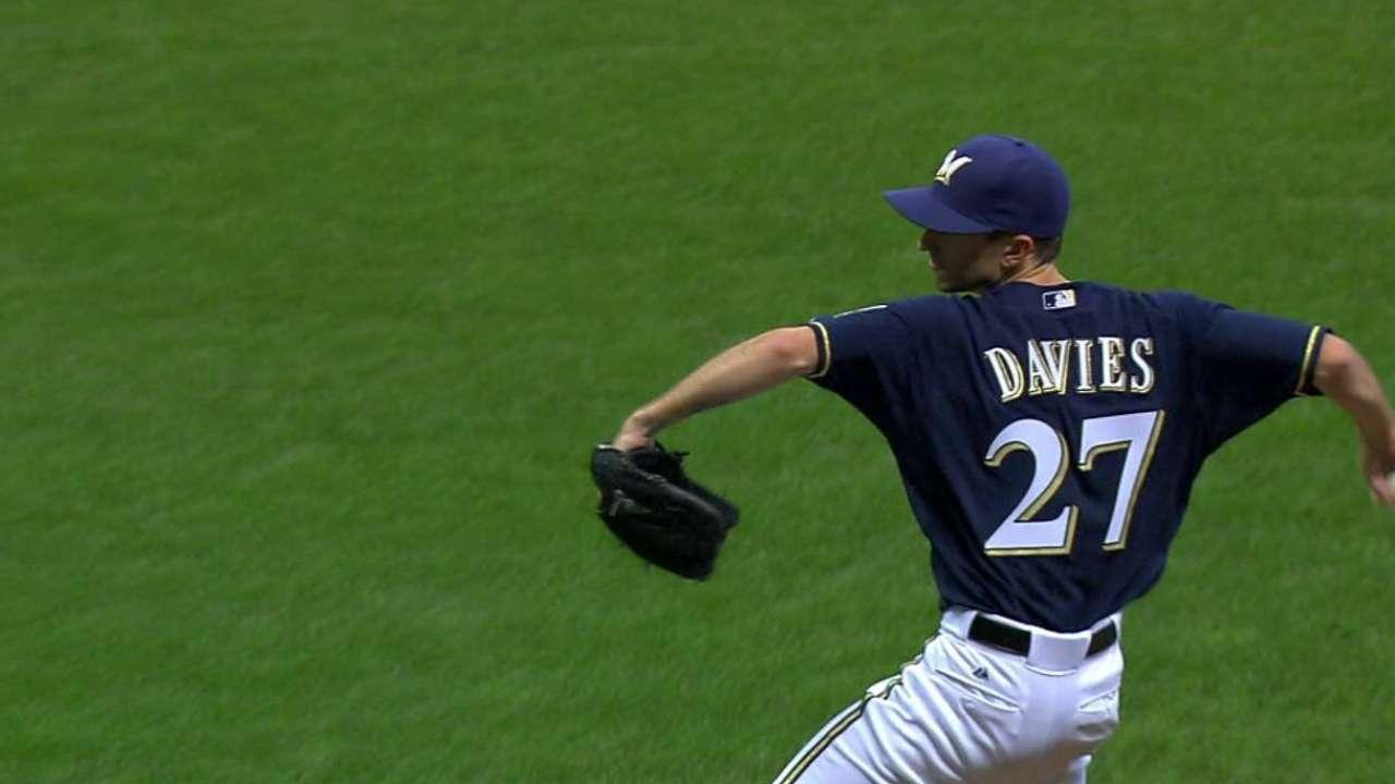 Davies' first Major League K