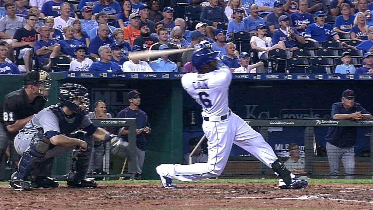 Royals' 4 homers, Ventura's 11 K's tame Tigers
