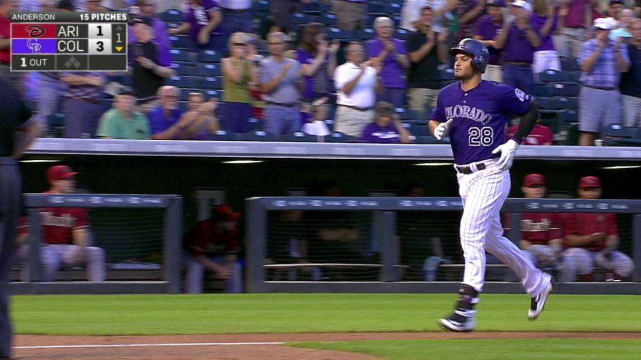 Arenado's homer marks 100th RBI
