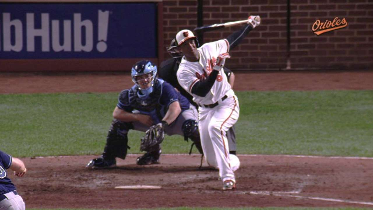Schoop's game-tying home run