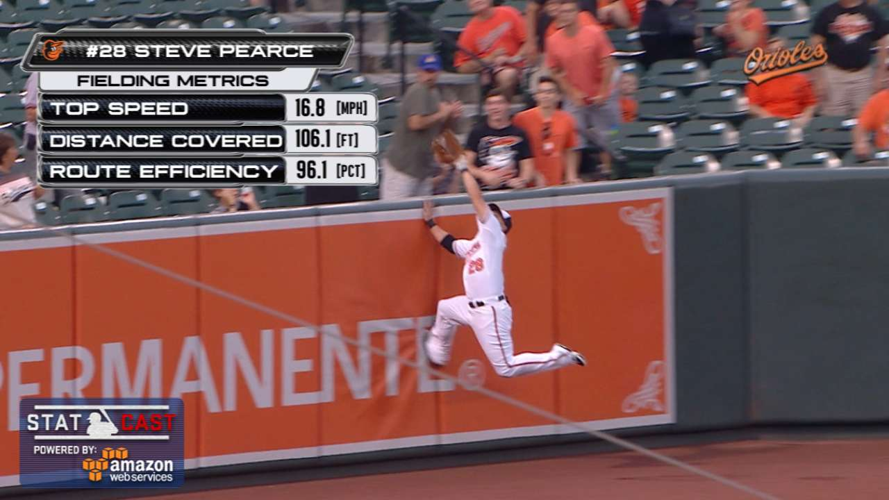 Statcast: Pearce brings one back