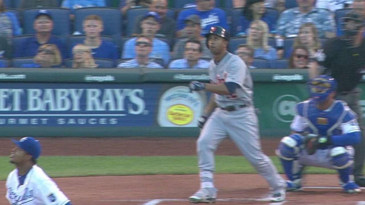 Gose's leadoff home run