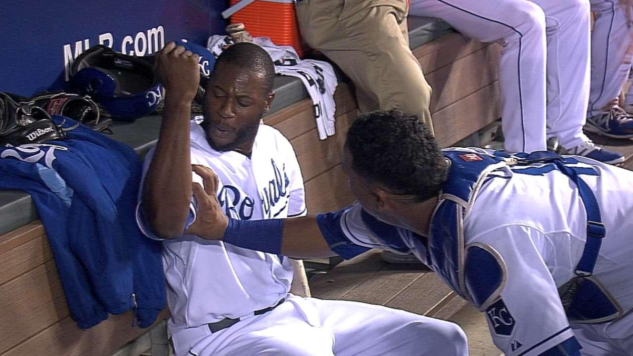 Cain 'muscles' three-run homer