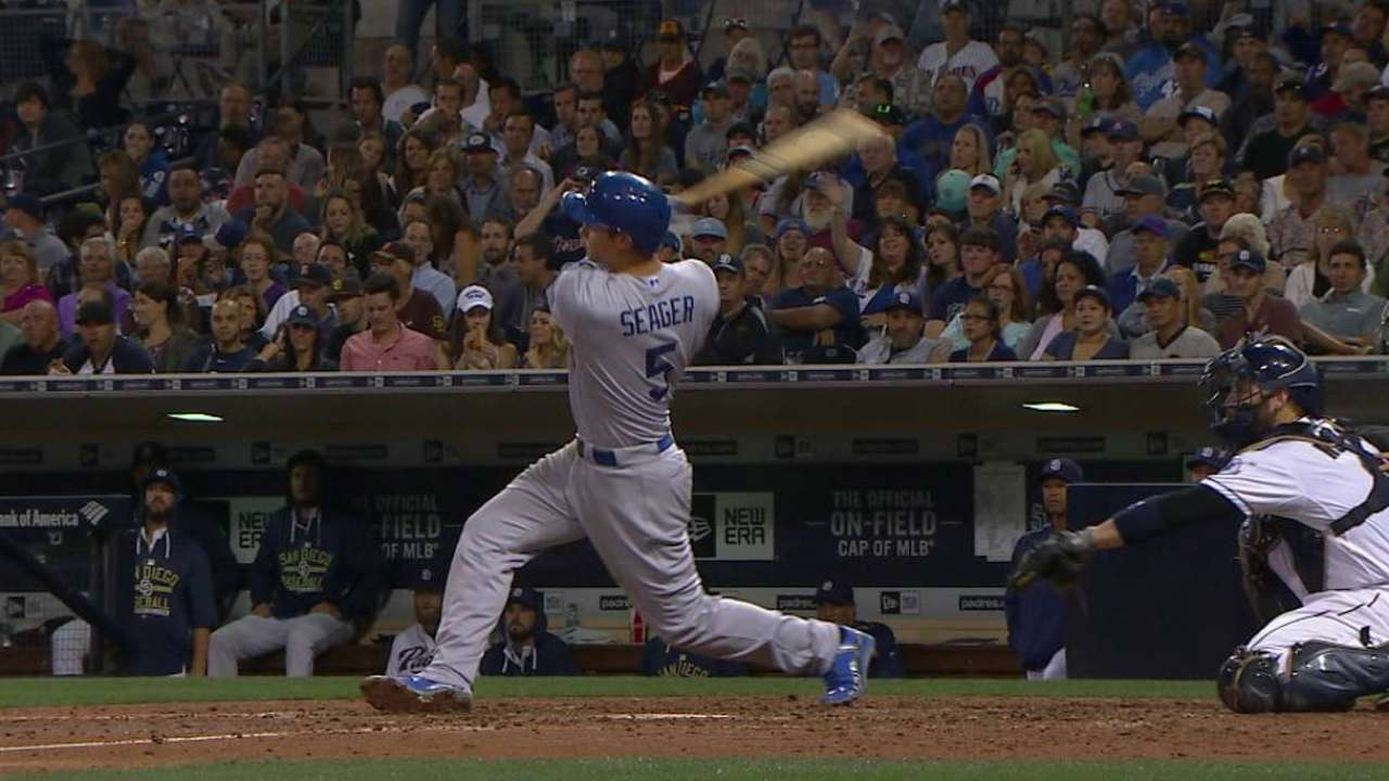 Seager's first career hit