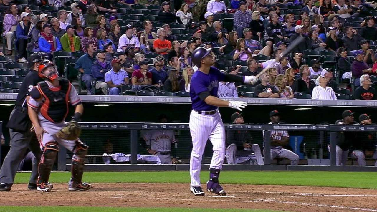 With 3 HRs, Rox roll over reeling Giants