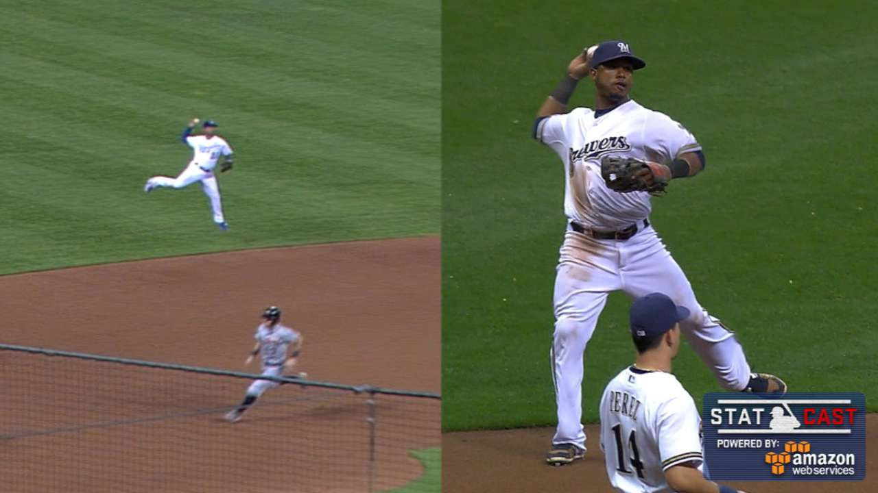 Statcast: Shortstops shine with cannons, quickness