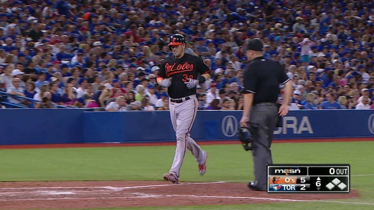 Wieters' homer aided by Revere