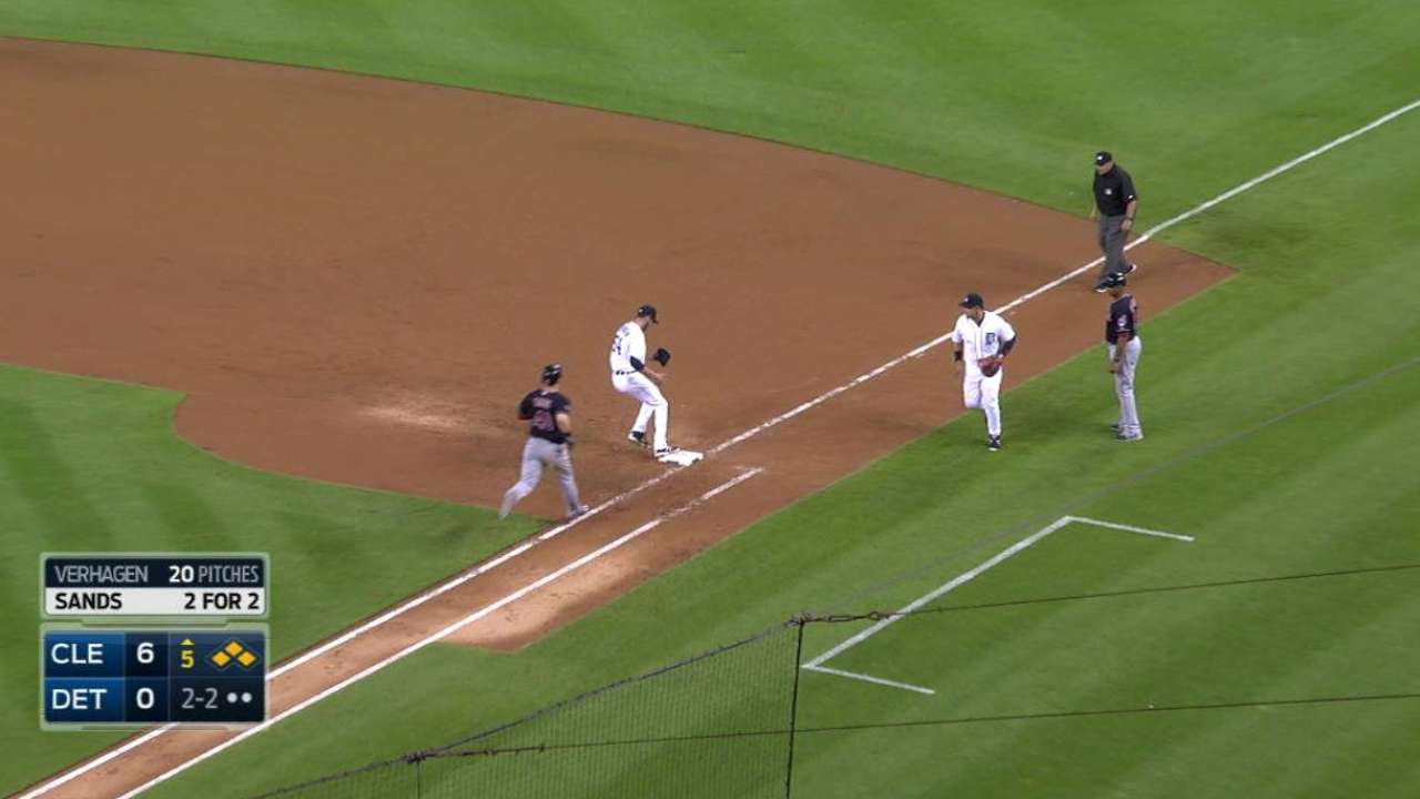Miggy's leaping play