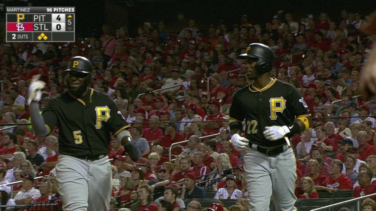 Pirates gain in NL Central with win over Cards