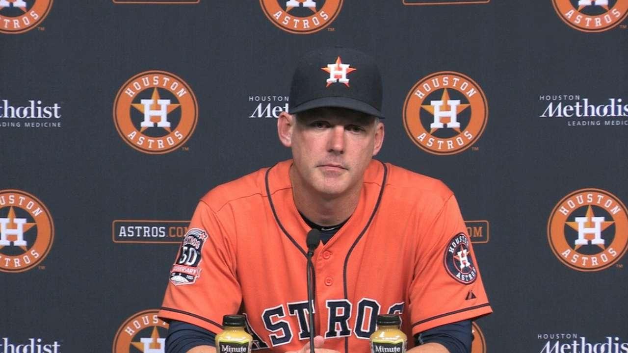 Hinch on Astros' 8-0 win