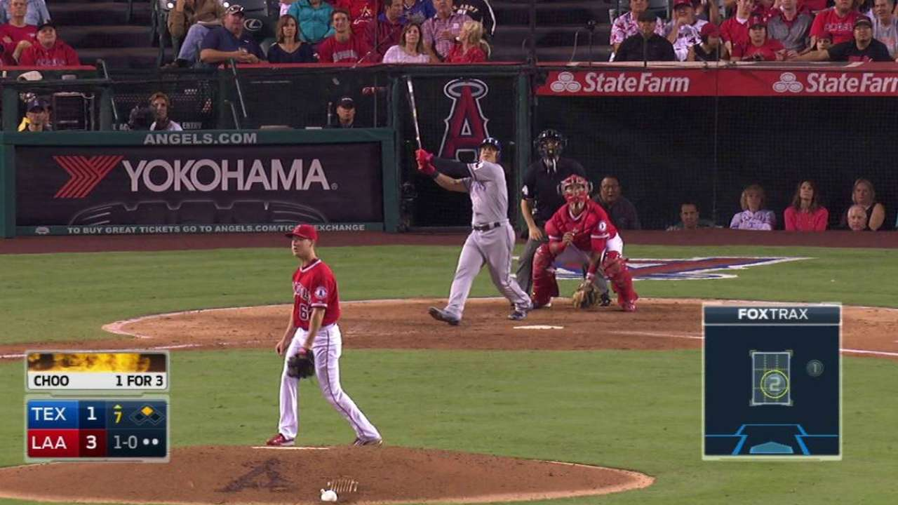 Texas can't contain Cron; Angels gain in WC race