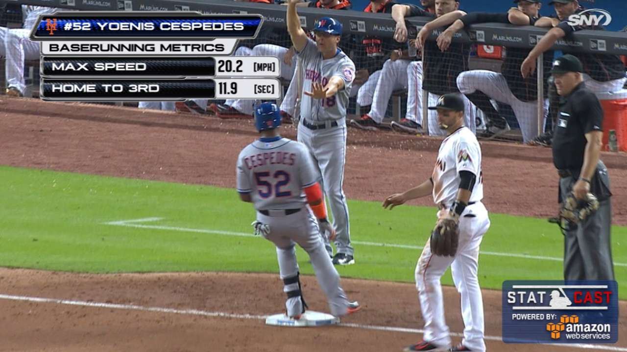 Statcast: Cespedes turns it on
