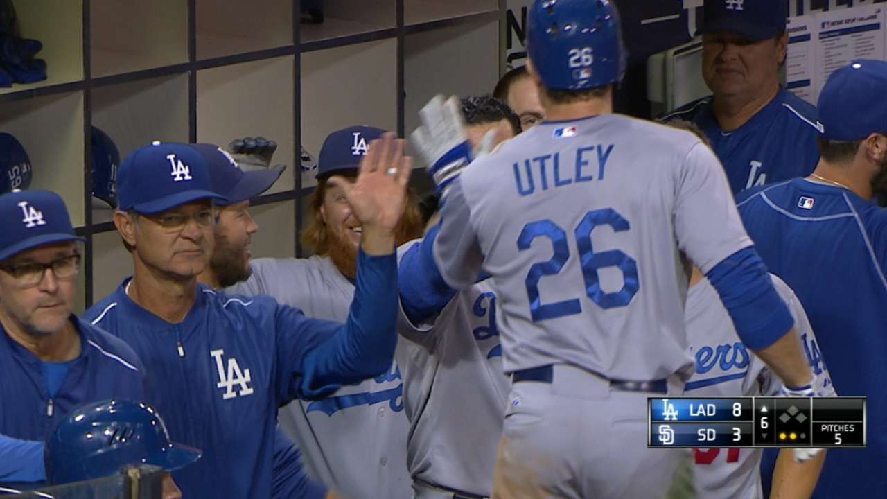 Dodgers crush five homers