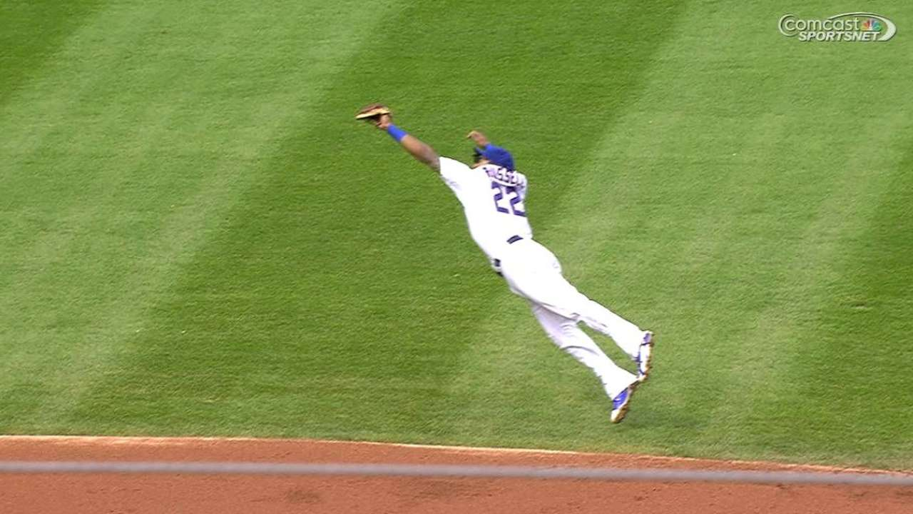 Russell's great diving catch