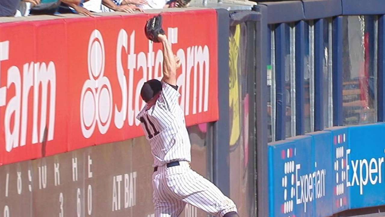 Gardner's leaping catch