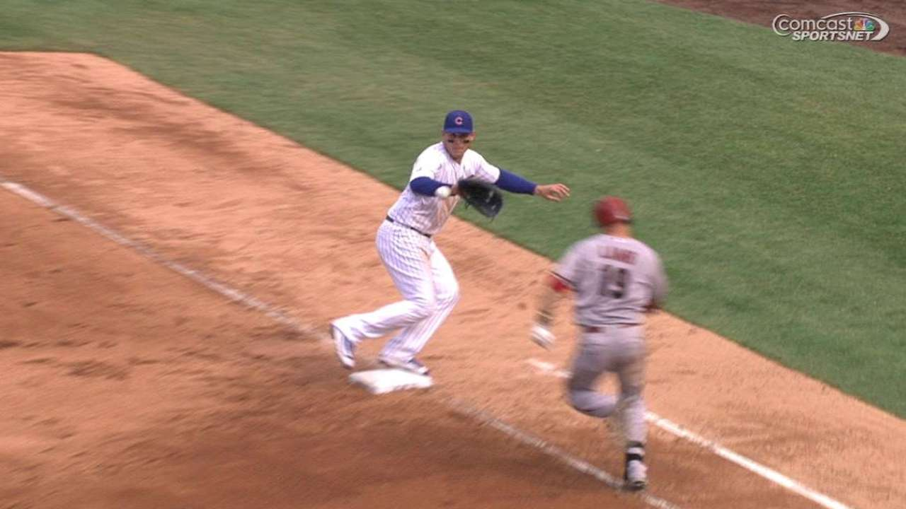 Rizzo holds the bag on review
