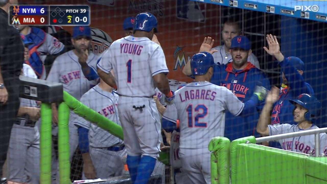 Lagares' two-run homer