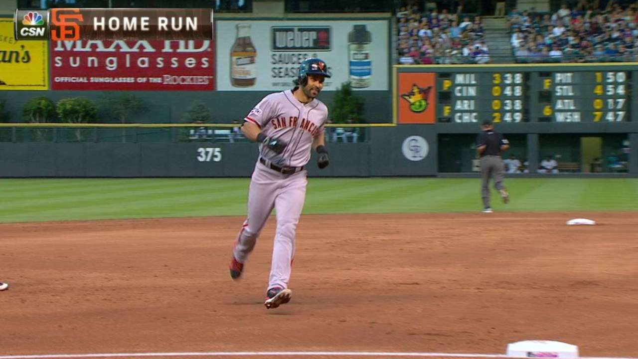 Pagan homers for first time since 2014