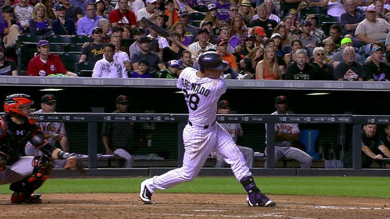 Arenado makes it six straight
