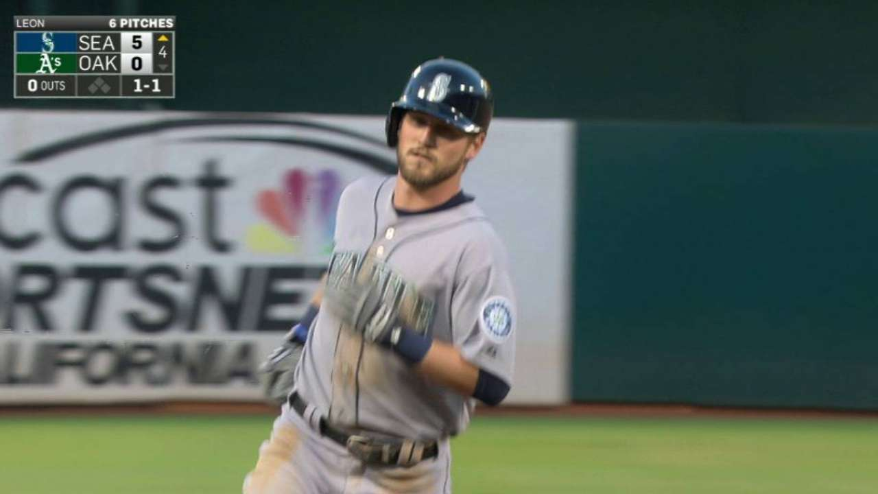 O'Malley's first career homer