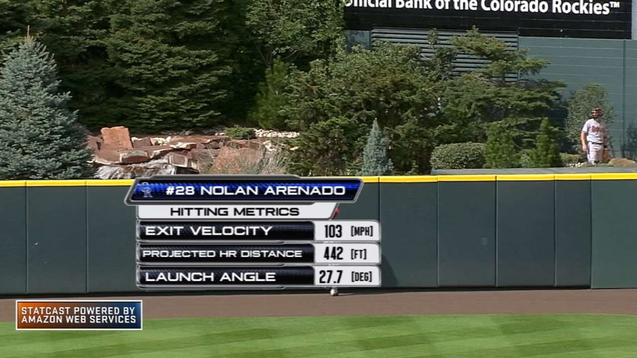 Arenado homers in 6th consecutive game
