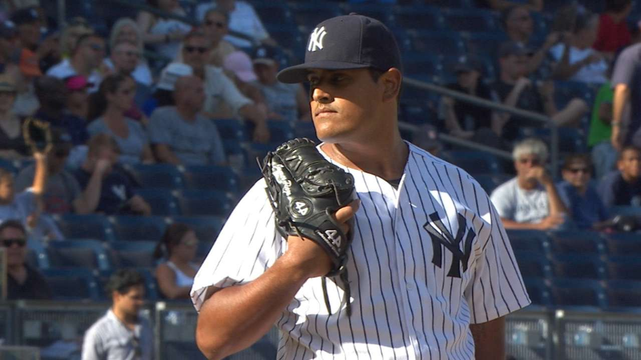 Pazos' first career strikeout