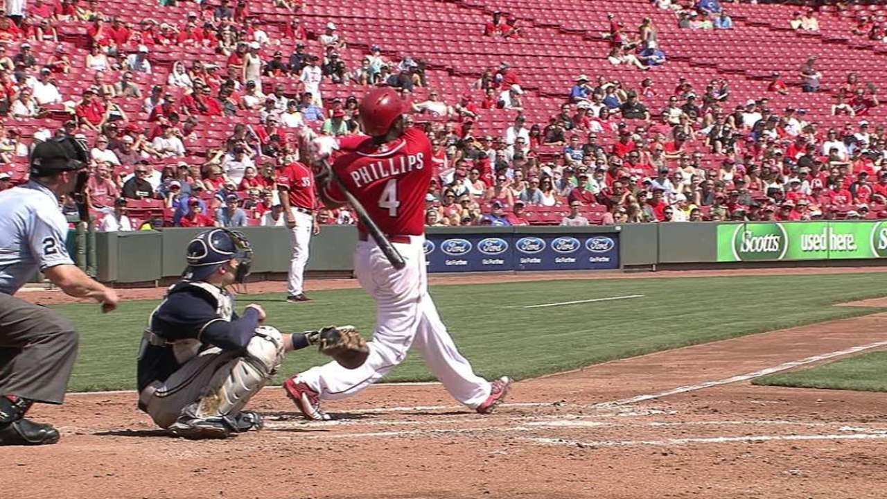 Phillips' two-run homer